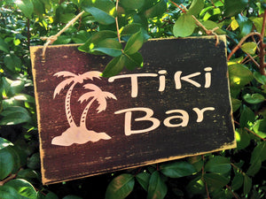 8x6 Tiki Bar Wood Sign