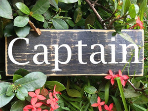10x4 Captain Custom Wooden Sign