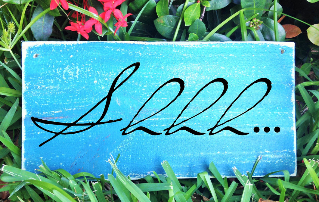 Shhh Custom Wood Silence Quiet Voices Massage Facial Treatment Service Office Spa Salon Sign