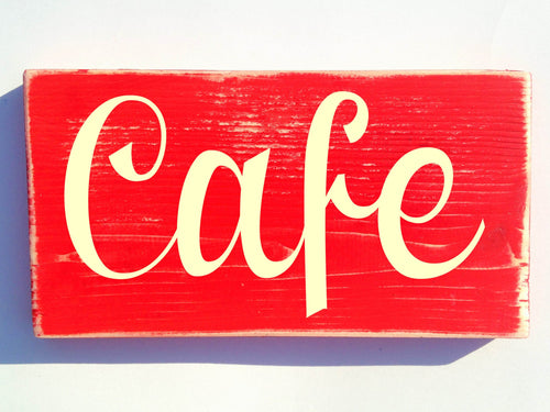 10x6 Cafe Wood Barista Coffee Shop Sign