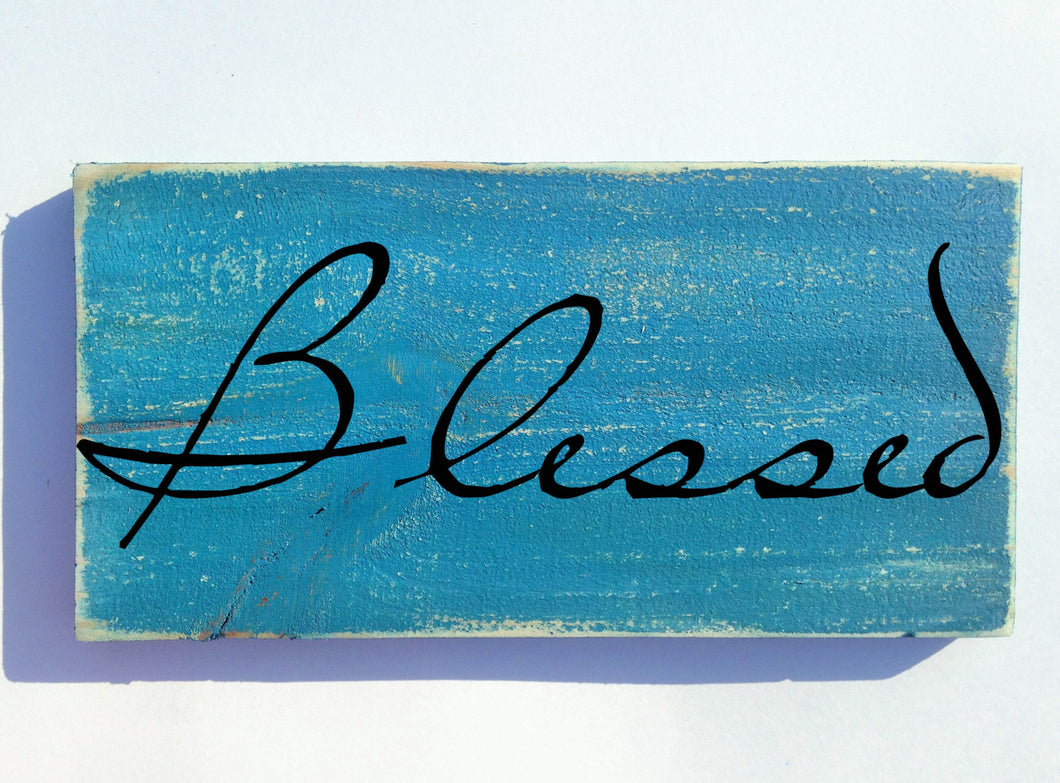 10x6 Blessed Wood Blessings Sign