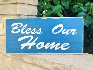 12x6 Bless Our Home Wood Sweet Home Sign