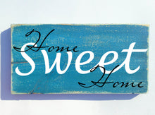 Load image into Gallery viewer, 12x6 Home Sweet Home Wood Family Sign