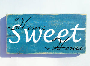 12x6 Home Sweet Home Wood Family Sign