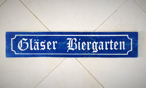 Custom Biergarten 28x6 Wood Oktoberfest Sign