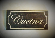 Load image into Gallery viewer, 12x8 Cucina Wood Italian Kitchen Mangia Sign
