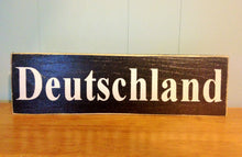 Load image into Gallery viewer, 14x4 Deutschland Wood German Sign