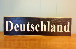 14x4 Deutschland Wood German Sign