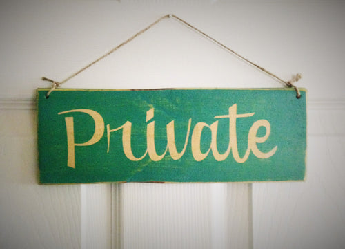 12x4 Private Wood Business Sign