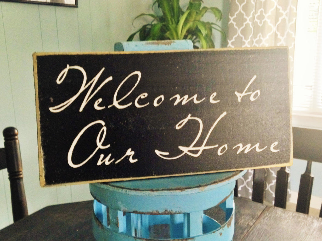 12x6 Welcome To Our Home Wood Sweet Home Sign