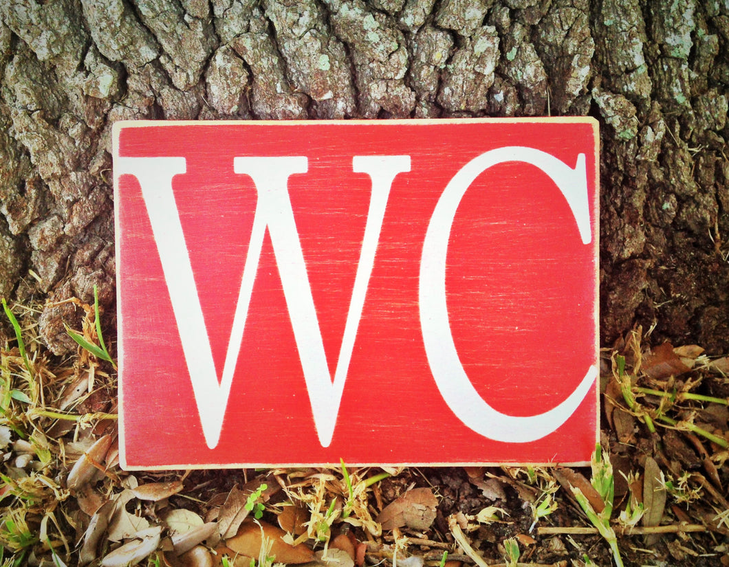8x6 WC Wood Sign