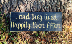 14x6 Happily Ever After Wood Love Wedding Family Sign