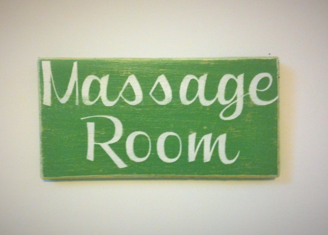 10x4 Massage Room Wood Spa Service Sign