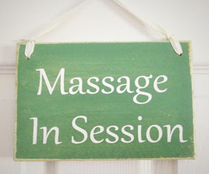 8x6 Two Sided Custom Massage Wood Sign