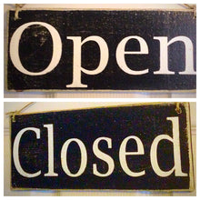 Load image into Gallery viewer, 10x4 Open Closed Double Sided Custom Wooden Sign