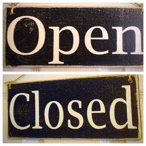 10x4 Open Closed Double Sided Custom Wooden Sign