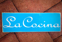 Load image into Gallery viewer, 14x6 La Cocina Wood Spanish Kitchen Sign
