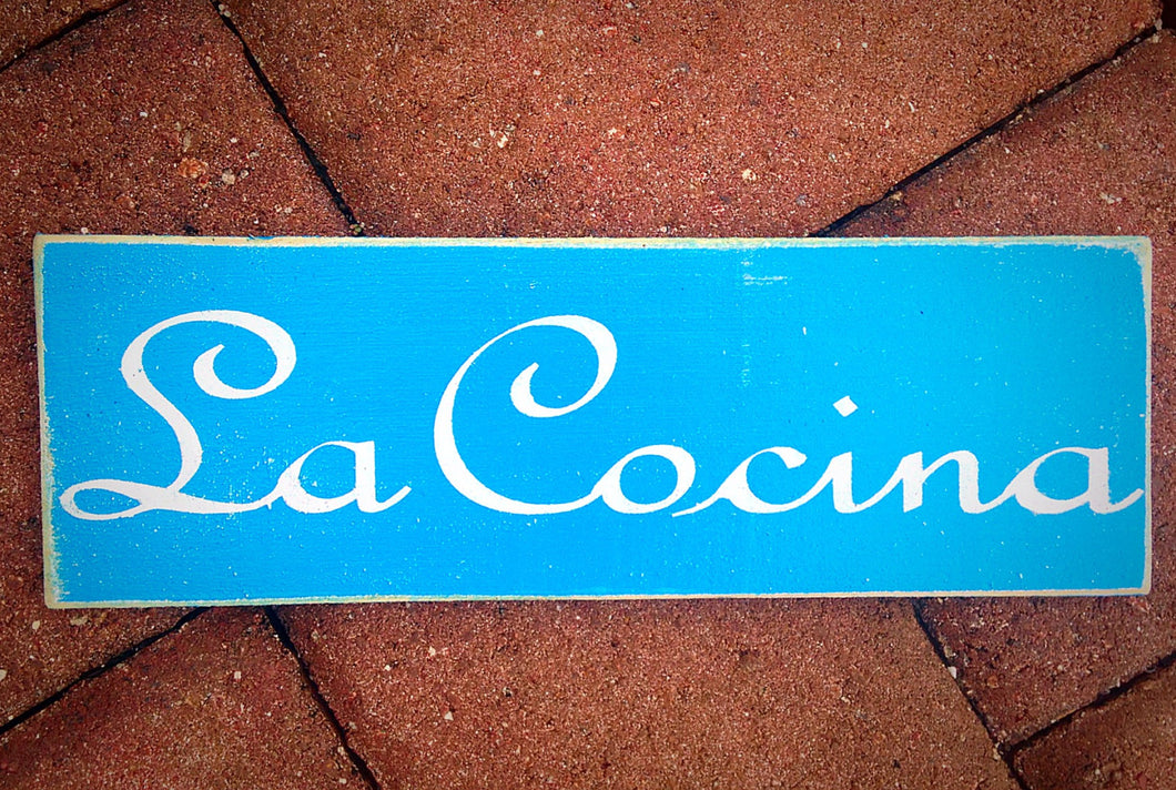 14x6 La Cocina Wood Spanish Kitchen Sign