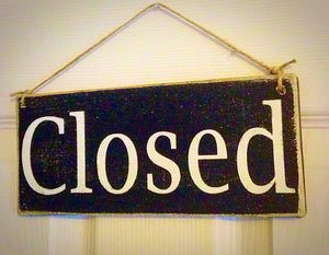 10x4 Open Closed Double-Sided Wood Business Corporate Sign
