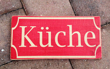 Load image into Gallery viewer, 12x6 German Kuche Wood Kitchen Sign