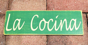 12x4 La Cocina Wood Spanish Kitchen Sign