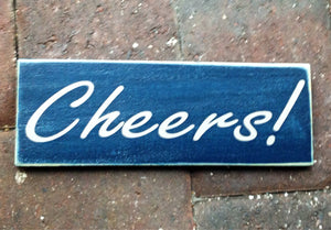 Cheers Custom Wooden Happy Hour Sign