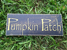 Load image into Gallery viewer, 12x6 Pumpkin Patch Wood Fall Autumn Harvest Sign
