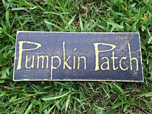 12x6 Pumpkin Patch Wood Fall Autumn Harvest Sign