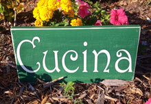 Load image into Gallery viewer, 14x8 Cucina Wood Spanish Kitchen Sign