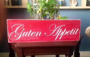 18x6 Guten Appetit Wood German Kitchen Sign