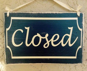 8x6 Open / Close Wood Sign