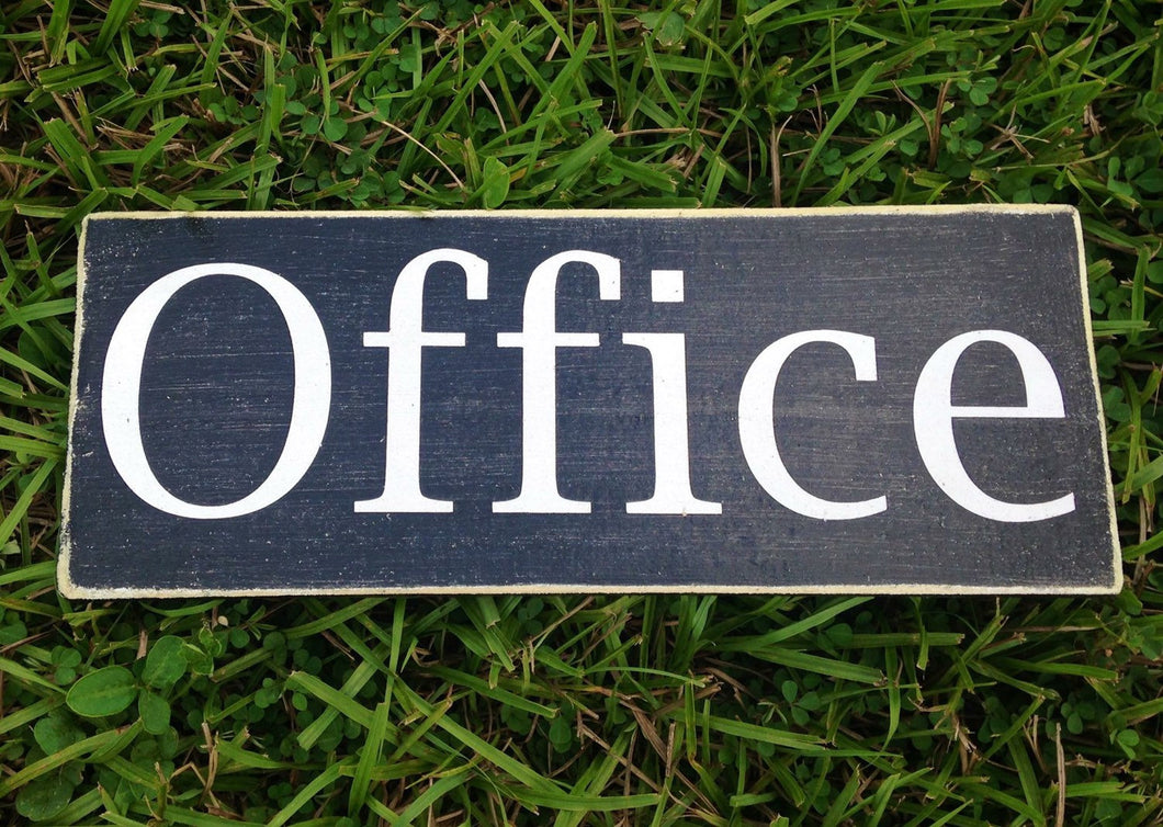 12x6 Office Wood Business Sign