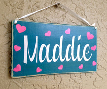Load image into Gallery viewer, 10x6 Girl's Name Personalized Wood Sign