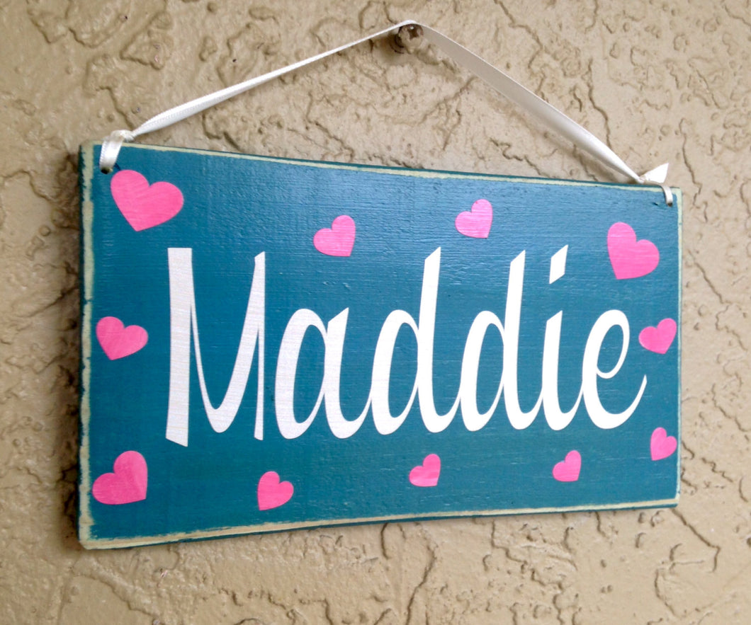 10x6 Girl's Name Personalized Wood Sign