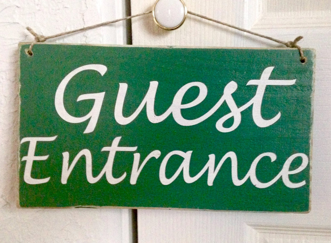 10x6 Guest Entrance Directional Custom Wooden Sign