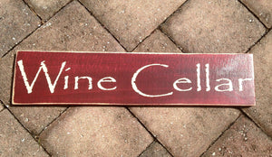 18x4 Wine Cellar Wood Happy Hour Kitchen Sign