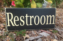 Load image into Gallery viewer, 14x8 Restroom Wood Bathroom Restroom Sign