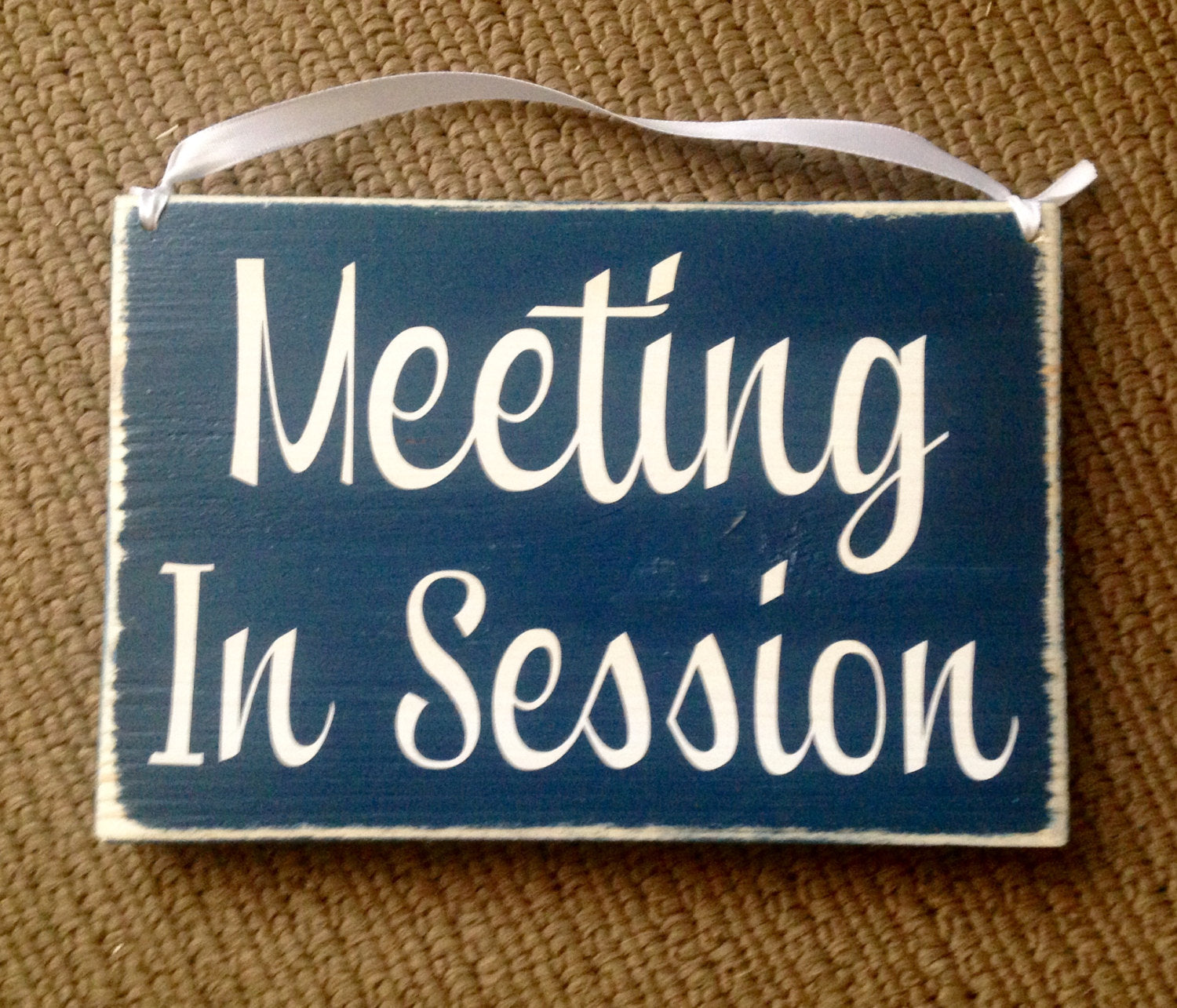 10x8 meeting in session wood business do not disturb sign designs