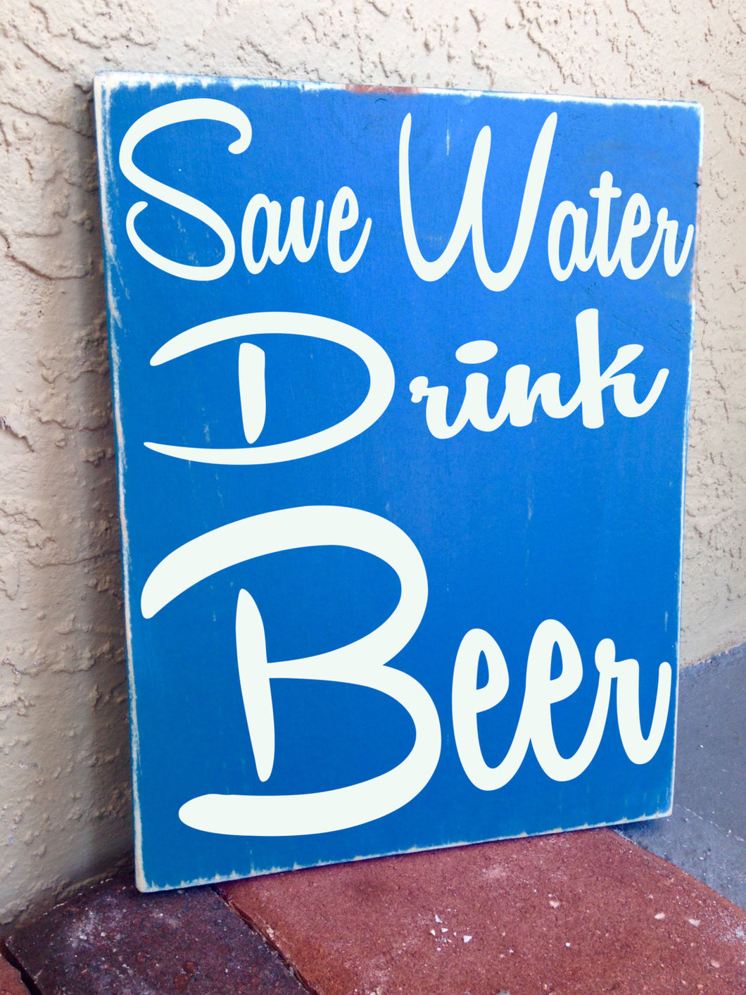 12x10 Save Water Drink Beer Wood Happy Hour Man Cave Sign