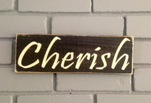 Load image into Gallery viewer, 12x4 Cherish Wood Blessing Wedding Sign