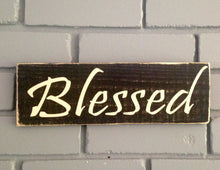 Load image into Gallery viewer, 12x4 Blessed Wood Family Sign