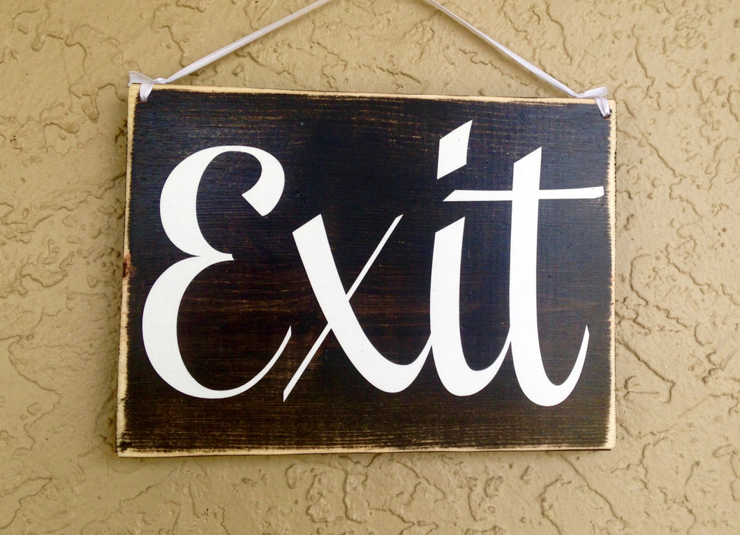 10x8 Exit Wood Corporate Business Door Sign