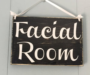 8x6 Facial Room Wood Spa Service Sign