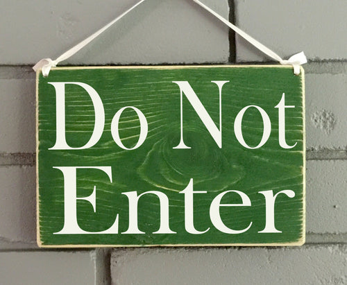 8x6 Do Not Enter Wood Private Sign