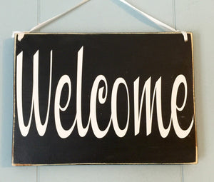 8x6 Welcome In Session Wood Sign