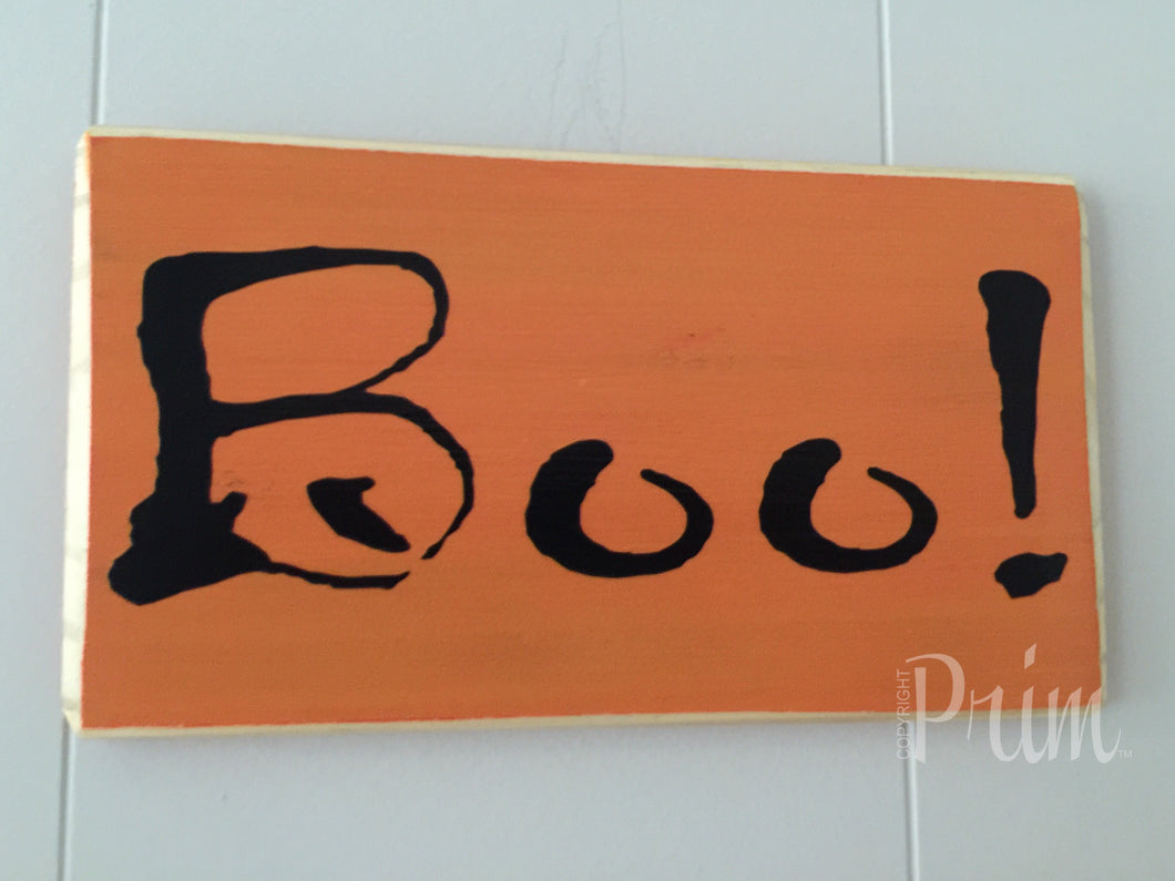 10x6 Boo! Wood Halloween Scary Trick or Treat Sign