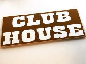 18x8 Clubhouse Wood Man Cave Children Kids Sign