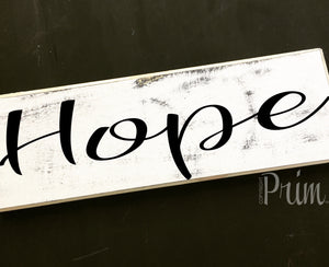 12x4 Hope Wood Family Blessing Sign