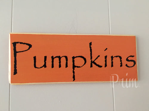 10x4 Pumpkins Wood Fall Harvest Autumn Sign
