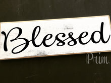 Load image into Gallery viewer, 12x4 Blessed Wood Wedding Family Sign